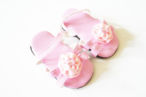 Pink Triple Carnation Summer Sandals For American Girl Dolls