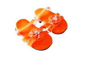 Orange Triple Carnation Summer Sandals For American Girl Dolls