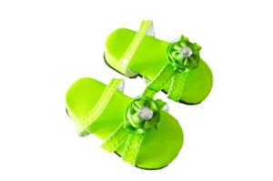 Lime Green  Triple Carnation Summer Sandals