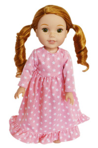 My Brittany's Pink Star Nightgown for American Girl Dolls Wellie Wishers