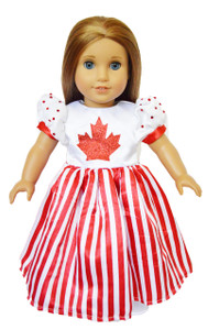 Canada Day Dress for American Girl Dolls-Coming Soon