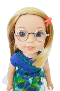 Silver Glasses for American Girl Dolls Wellie Wishers-Sold Out