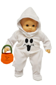 Ghost Costume for American Girl Dolls Bitty Baby