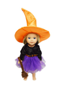 Purple Witch Costume for Wellie Wisher Dolls