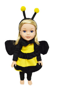 Bumble Bee Costume for American Girl Dolls Wellie Wishers