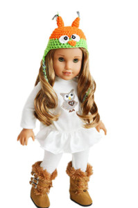 Fall Hoot Hoot Outfit With Boots Included For American Girl Dolls