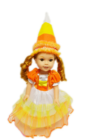 Image 1  sc 1 st  My Brittanyu0027s & My Brittanyu0027s Candy Corn Witch For American Girl Dolls Wellie Wishers