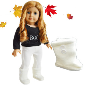 Ivory Button Boots for American Girl Dolls and Bitty Twins