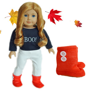 Pumpkin Spice Boots For American Girl Dolls