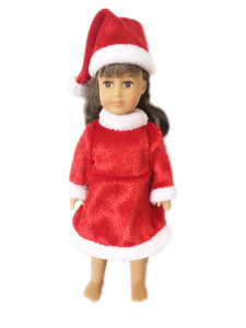 Mini American Girl Dolls Santa Outfit