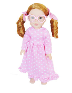 My Brittany's Pink Heart Glasses for Wellie Wisher Dolls- Add on Item Only