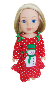 My Brittany's Snowman Nightgown for Wellie Wisher Dolls