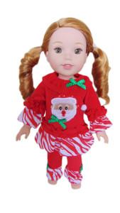 My Brittany's Santa Pj's for Wellie Wishers Dolls