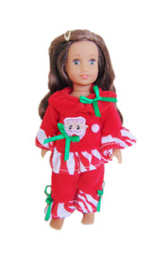 My Brittany's Santa Pjs for Mini American Girl Dolls