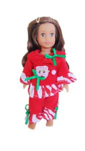 My Brittany's Santa Pjs for Mini American Girl Dolls