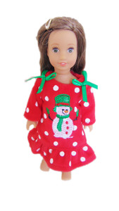 My Brittany's Mini Snowman Nightgown for Mini American Girl Dolls