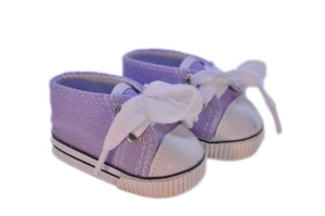 My Brittany's Lavender Canvas Sneakers for Wellie Wisher Dolls