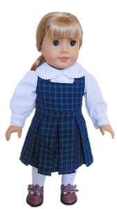 My Brittany's Navy Plaid Jumper for American Girl Dolls..