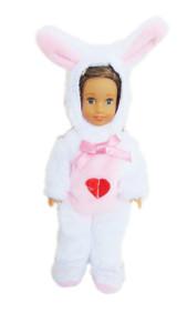 My Brittany's White Bunny Outfit For Mini AG Dolls