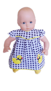 Quack Quack Ducky Dress for Bitty Baby with Matching Diaper Cover- Arrives 2/10