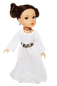 Princess Leia Outfit for Wellie Wishers Dolls