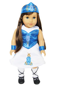 My Brittany's Blue Irish Dance Outfit for American Girl Dolls