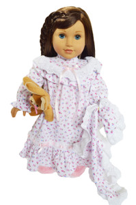 Spring Nightgown For 18 Inch American Girl Dolls