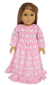 My Brittany's Pink Bunny Nightgown For American Girl Dolls