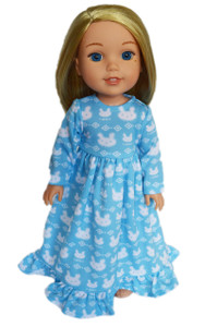 My Brittany's Blue Bunny Nightgown for Wellie Wishers