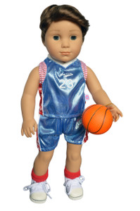 My Brittany's Blue Basketball Outfit for American Girl Boy Dolls