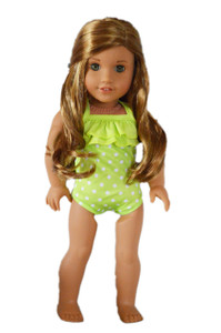 My Brittany's Lime Green Dot Swimsuit for American Girl Dolls