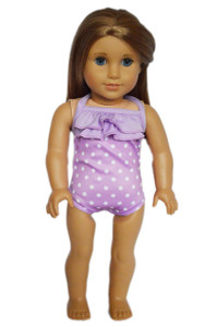 My Brittany's Lavender Swimsuit for American Girl Dolls