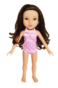 My Brittany's Pink Dot Swimsuit for Wellie Wisher Dolls