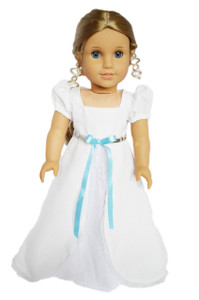 My Brittany's White Victorian Gown for American Girl Dolls