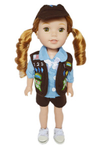 My Brittany's Girl Scouts Brownie Outfit for Wellie Wisher Dolls-Shorts