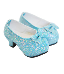 My Brittany's Blue Bow High Heel Shoes for Wellie Wishers
