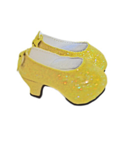 My Brittany's Belle Yellow Bow High Heel Shoes for American Girl Dolls