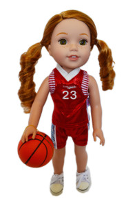 My Brittany's All American Red Basketball Outfit for Wellie Wisher Dolls