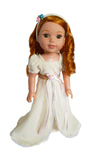 My Brittany's  Ivory Victorian Gown with Headband for Wellie Wisher Dolls