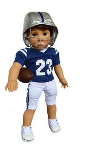 My Brittany's Blue and White Football Outfit for American Girl Doll Logan