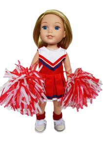 My Brittany's Red Cheerleader for Wellie Wisher Dolls