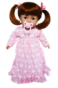 My Brittany's Tiny Tots Girl in Pink Nightgown with Pacifier
