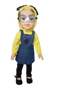 My Brittany's Minion Costume for Wellie Wisher Dolls