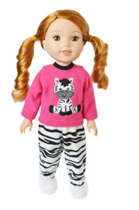 My Brittany's Zebra Pjs for Wellie Wisher Dolls
