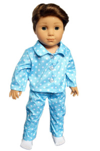 My Brittany's Blue Star Pjs for American Girl Boy Dolls