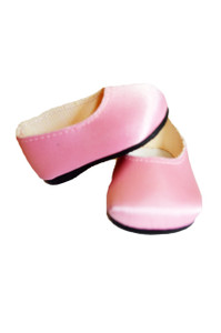 My Brittany's Pink Satin Flats for Wellie Wisher Dolls