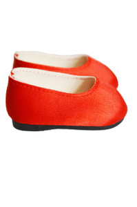 My Brittany's Red Satin Flats for Wellie Wisher Dolls