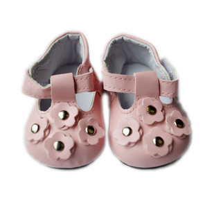 My Brittany's Pink Flower Mary Janes for Wellie Wisher Dolls