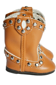 My Brittany's Brown Stud Boots for Wellie Wisher Dolls