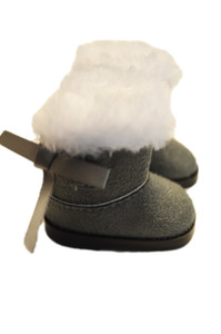 My Brittany's Grey Bow Boots for Wellie Wisher Dolls